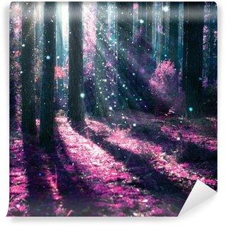 Vinyl-Fototapete Fantasie-Landschaft. Geheimnisvolle Alten Wald.