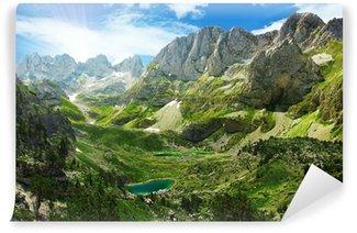 Vinyl-Fototapete Fantastische Aussicht auf Bergseen in den albanischen Alpen