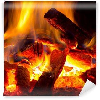 Vinyl-Fototapete Feuerflamme