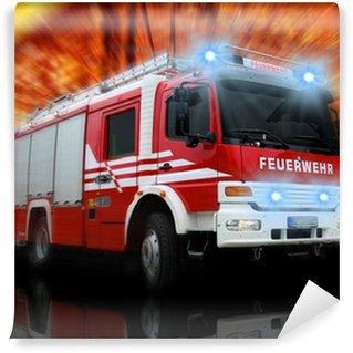 Vinyl Fototapete Feuerwehr