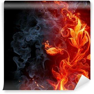 Vinyl-Fototapete Fiery の Blume
