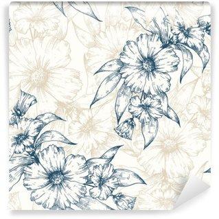 Vinyl-Fototapete Floral Vektor-Muster