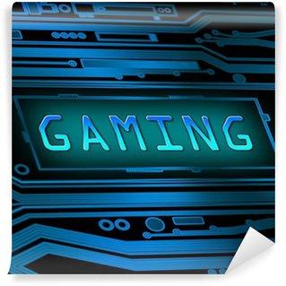 Vinyl-Fototapete Gaming-Konzept.