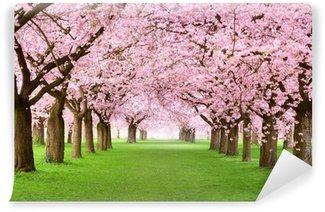 Vinyl Fototapete Gartenanlage in voller Blütenpracht