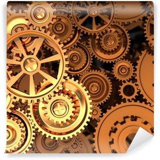 Vinyl-Fototapete Golden gears