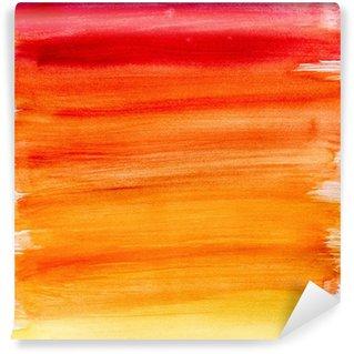 Vinyl-Fototapete Gradient Aquarell Hintergrund in warmen Farben