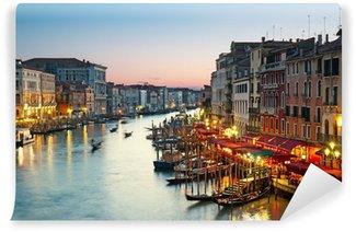 Vinyl-Fototapete Grand Canal nach Sonnenuntergang. Venedig - Italien