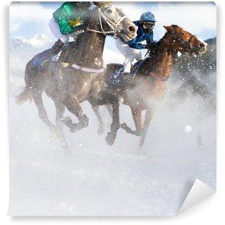 Vinyl-Fototapete Grand-Prix-Pferd