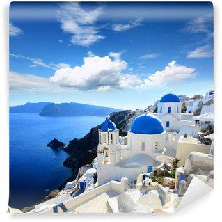 Vinyl-Fototapete Griechenland - Santorini (Oia Dorf)