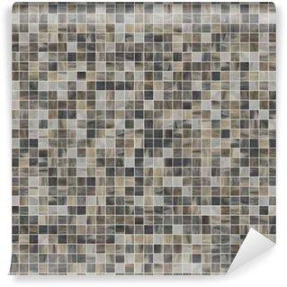 Vinyl-Fototapete Große quadratische nahtlose Textur von Mosaikfliesen 07