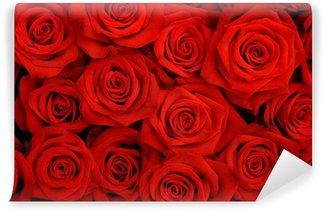 Vinyl-Fototapete Großen Strauß roter Rosen