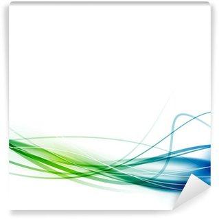 Vinyl-Fototapete Grün-blaue Swoosh abstrakten Linien Hintergrund