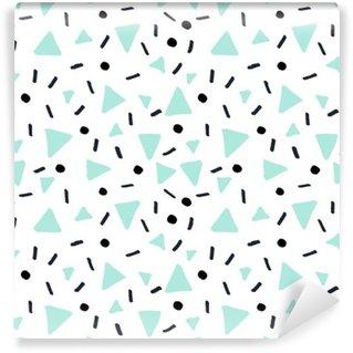 Vinyl-Fototapete Hand gezeichnete Retro nahtlose Muster