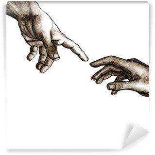 Vinyl-Fototapete Hands von Gott und Adam