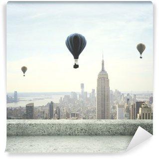 Vinyl-Fototapete Heißluftballon am Himmel