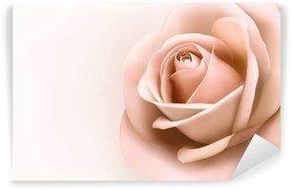 Vinyl-Fototapete Hintergrund mit schönen rosa Rose. Vector