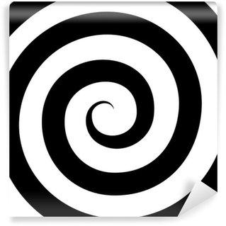 Vinyl-Fototapete Hypnose-gewundenes Muster. Optische Täuschung. Vektor