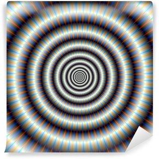 Vinyl-Fototapete Hypnotic Ringe