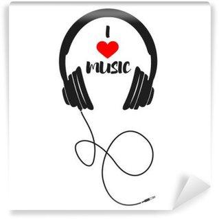Vinyl-Fototapete Ich liebe Musik