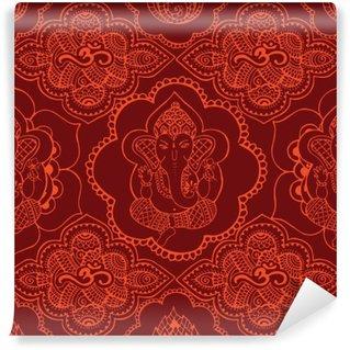 Vinyl-Fototapete Indian nahtlose Muster mit Verzierung