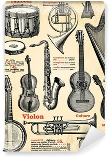 Vinyl-Fototapete Instruments de musique