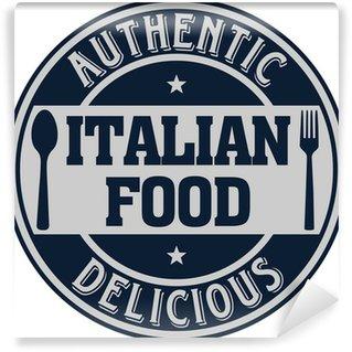 Vinyl Fototapete Italienische Lebensmittel-Label