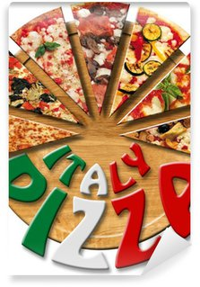 Vinyl Fototapete Italy Pizza auf dem Schneidebrett