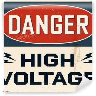 Vinyl-Fototapete Jahrgang Metall Sign - Vektor - Grunge Effekte können entfernt werden