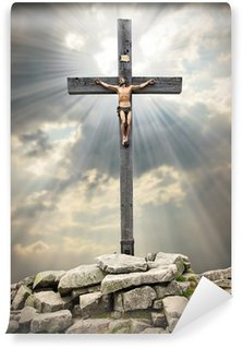 Vinyl-Fototapete Jesus Christus am Kreuz.