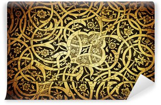 Vinyl-Fototapete Kacheln Hintergrund, orientalische Ornamente aus Uzbekistan.Tiled backg