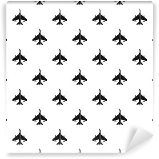 Vinyl-Fototapete Kampfjet-Muster. Einfache Illustration Kampfjet Vektor-Muster für Web