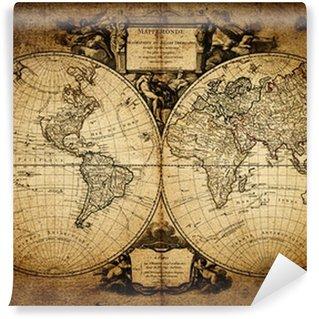 Vinyl-Fototapete Karte der Welt 1752