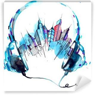 Vinyl-Fototapete Klänge der Stadt