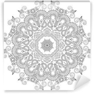 Vinyl-Fototapete Kreis Ornament, ornamental runde Spitze