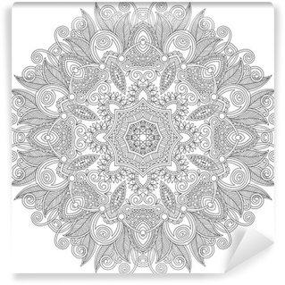 Vinyl-Fototapete Kreis Spitze Ornament, ornamentale runden geometrischen Doilymuster,