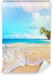 Vinyl Fototapete Kunst Sommerurlaub Ozean Strand
