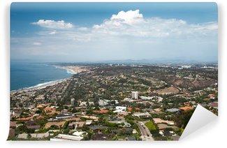 Fototapete blick aufs meer  Vinyl-Fototapete La Jolla Dorf mit dem Blick aufs Meer • Pixers ...