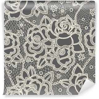 Vinyl-Fototapete Lace seamless pattern