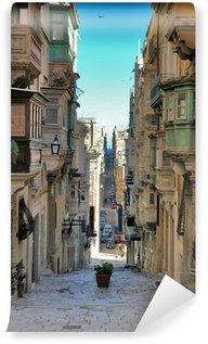 Vinyl-Fototapete Lange Sicht der Malteser Straße