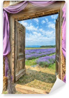 Vinyl-Fototapete Lavendel in der Provence, HDR