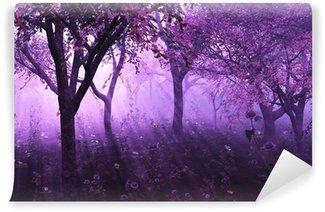 Vinyl-Fototapete Lavender Forest - 3d render