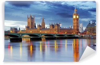 Vinyl-Fototapete London - Big Ben und Häuser des Parlaments, UK