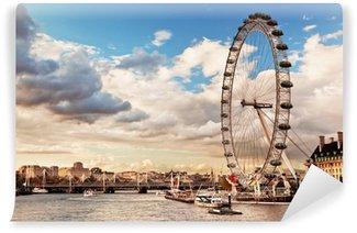 Vinyl-Fototapete London, England, Großbritannien Skyline. Die Themse