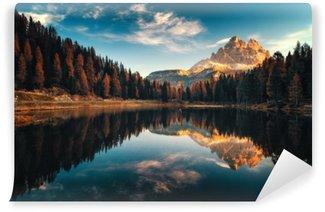Vinyl-Fototapete Luftaufnahme der Dolomiten