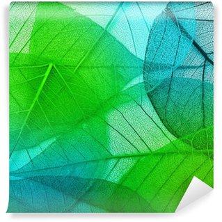 Vinyl-Fototapete Makro-Blätter