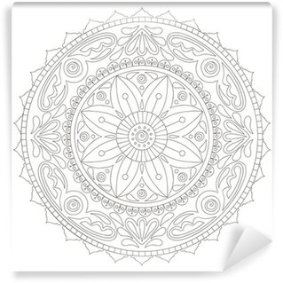 Vinyl-Fototapete Mandala doodle