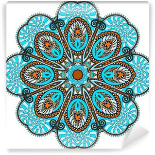 Vinyl-Fototapete Mandala, kreisen dekorative spirituellen indischen Symbol der Lotusfluss