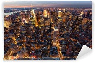 Vinyl-Fototapete Manhattan aus der Luft