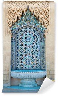 Vinyl-Fototapete Marokkanischen gefliesten Brunnen