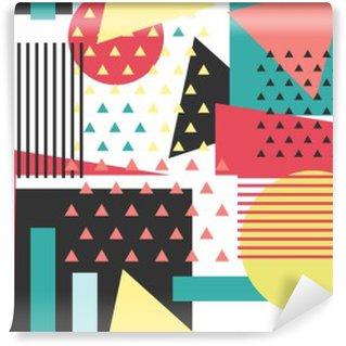 Vinyl-Fototapete Memphis nahtlose Muster. Geometrische Hintergrund.